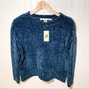 Max Studio Chenille Crop Sweater